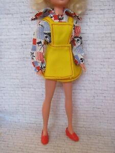 Sindy Doll Bib Skirt S123 Complete Outfit - VGC
