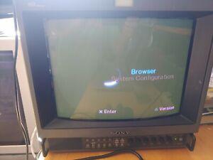 "Sony PVM-14M4U Video Production/Retro Gaming 14"" Monitor Trinitron Color HD"