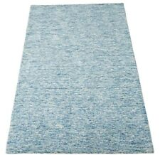 Blau Beige Teppich 100% Wolle 160X230 cm Orientteppich Handgetuftet HT334