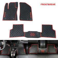 2015-2016 JEEP RENEGADE FRONT & REAR CARPET FLOOR MATS Protector 3PCS/SET RED