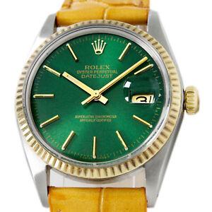 Rolex Hulk Green Datejust Steel Gold 16013 Automatic Men's Wrist Watch 1979s