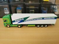 (P10) Herpa LKW H0 1:87 Scania Sattelzug Zingg Transporte