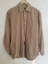 Hugo Boss Medium 16.5 Brown Dress Shirt Sleeve 34/35