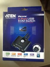 ATEN CS22U 2 Port USB KVM Switch Cable with Remote Port Selector