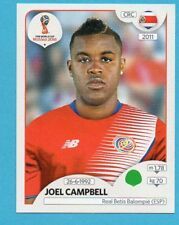 RUSSIA 2018 World Cup-PANINI-Figurina n.397-CAMPBELL-C.RICA-ROSA-PINK BACK