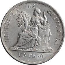 """Guatemala 1 peso 1896, AU, """"Peso (1859 - 1925)"""""""