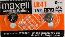 2 Pack Maxell LR41 Battery 192 / AG3 / V3GA 1.5v Alkaline Watch Cell Batteries