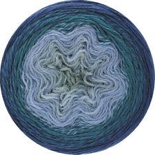 Wolle Kreativ! Lana Grossa Twisted Cashmerino - 808 grau/blau/pertolgrün 150 g