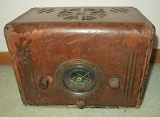 1930s Aetna Model J Wood Radio As-is