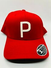 Puma Tour Exclusive Red Snapback Adjustable P Golf Cap Hat Unworn Rickie Fowler