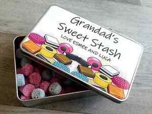Personalised LIQUORICE sweet biscuit treats metal storage tin gift