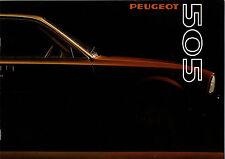 Catalogue publicitaire PEUGEOT 505 gr sr ti sti grd srd 1980