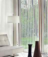 Fabric Vertical Blinds - 210cm Wide x 240cm High - CHALK - Complete Package