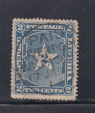 Liberia # 34 USED 1892 Ship Mail Cockrill Cancel # 90 (R)
