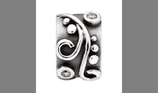 Silver Charms Bead Stopper fit European Bracelet hallmarked Clip Clasp 6 PSB345