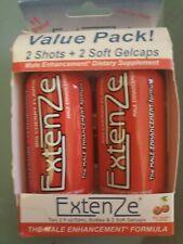 ExtenZe Maximum Strength Male Enhancement Shots +2 Softgels Cherry (2 pack) 4oz
