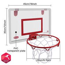 18'' Basketball Hoop Backboard Rebounds Wall Hanging Rim Children Indoor Sports