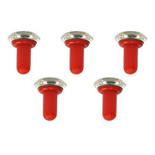 5 X 12mm Red Rubber Rocker Toggle Switch Knob Hat Waterproof Boot Cap Sales