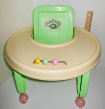 $8 OFF ~RARE Coleco 1980's Cabbage Patch Kid Doll Rolling Walker Exersaucer Seat