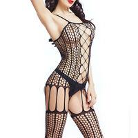 Women Lingerie Fishnet Body Stocking G-string Babydoll Sleepwear Lady Nightwear