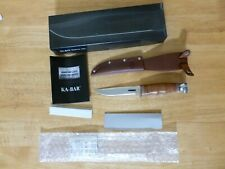 """KA-BAR 1232 HUNTER stacked leather fixed blade hunting knife 8"""" overall"""