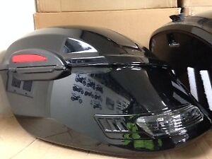 Hard Motorcycle Saddle Bags, Universal Waterproof, Mounting Kit Incl.