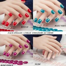 LOT FAUX ONGLES CAPSULES COURT + COLLE NAIL ART MANUCURE