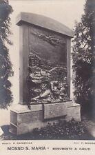 MOSSO S. MARIA - Monumento ai Caduti