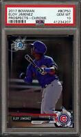 2017 Bowman Chrome Prospects #BCP50 Eloy Jimenez Rookie RC Cubs PSA 10 Gem Mint