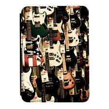 Guitar Wall Electric Rock Music iPad Mini 1/2/3 PU Leather Flip Case Cover