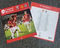 Manchester United v FK Partizan Europa League Programme 7/11/19!FREE UK POSTAGE!