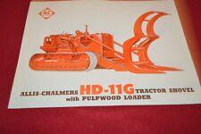 Allis Chalmers HD-11G Crawler Tractor Loader Dealer's Brochure YABE14 ver31