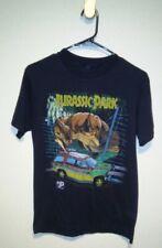 Vintage Jurassic Park Shirt Mens Sz Med Black SS Crash McCreery T-Rex Print 1993