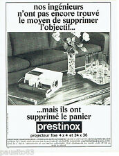 PUBLICITE ADVERTISING 066  1967  le projecteur fixe 4x4 Prestinox