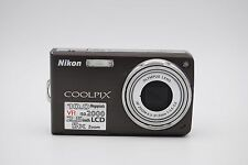 Nikon COOLPIX S550 10.0MP 2.5'' SCREEN 5X Digital Camera BROWN WITH BATTERY