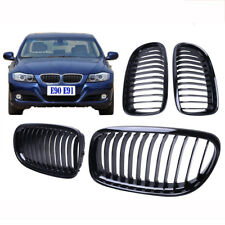 Gloss Black For BMW Saloon 2009-2011 E90 E91 4D Front Kidney Grill Grilles