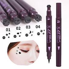 Doppelt Head Wasserdichte Liquid Eyeliner Tattoo Stempel Liner Bleistift  HOT