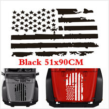 Black US American Flag Style Vinyl Car Decal Sticker Hood Window Graphics Decals