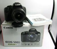 Fotocamera Canon EOS 500d reflex digitale + obiettivo 18-55 + scatola 7000scatti