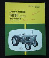 1963 JOHN DEERE 2010 GAS DIESEL ROW-CROP UTILITY TRACTOR OPERATORS MANUAL SOHIO