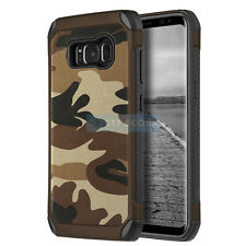 SAMSUNG GALAXY S8+ PLUS G955 BROWN CAMOUFLAGE IMPACT SHIELD RUGGED CASE COVER