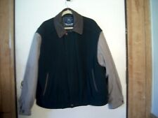 MEN' JACKET MEMBER'S ONLY XL LEATHER COLLAR