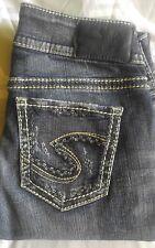 SILVER Suki Mid Slim Dark Wash Jeans NWOT Size 26/27