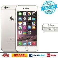 As New Apple iPhone 6 64GB Silver 4G GSM Unlocked Smartphone Mobile Warranty