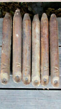 6 Antique Vintage Cast Iron 5lb Window Sash Weights Salvaged Architectural