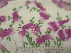 Vintage+hand+Embroidered+Lavender+purple+floral+linen+table+runner+%26+doilies%C2%A0