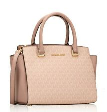 Michael Kors Bag Selma Md Tz Satchel Signature Fawn Ballet