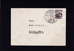 Brief mit Christkindl Stempel 17.12.1953