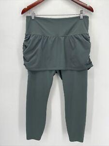 Athleta Green Hidden Pocket Skirted 2 in 1 Elation Leggings Large