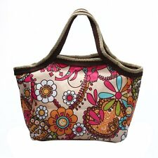 Women fashion Large handbag Tote Shopping race flower red